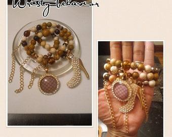 Designer inspired, handmade beaded bracelets