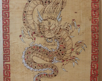 Chinese Dragon pyrography