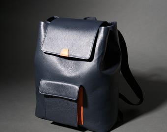 Leather Backpack Men, Laptop Backpack, Leather Rucksack, fits MacBook and Surface Pro, Full Grain Leather.