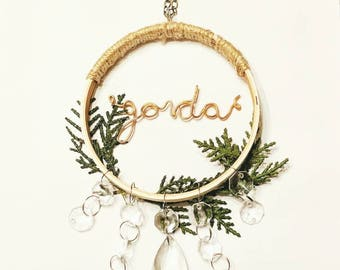 Gorda Wreath Car Charm | Ornament | Rearview Mirror |   Latina | Mexican Boho | Spanish Accessory