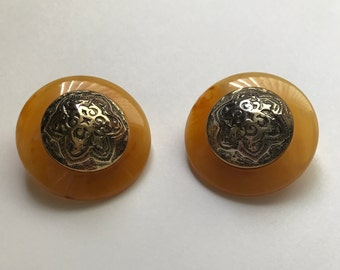 Vintage Italian made clip on earrings