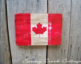 Canada, Rustic Wooden Flags, Patriotic, Wall Hangings, Home Decor, Gifts, Wooden Flags, Handpainted, Canadian Flags, Rustic, Travel, Flags