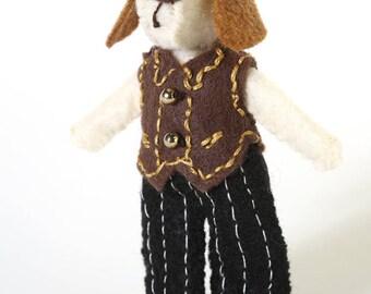 tiny stuffed animals - boy dog - tiny animal - dog lover gift