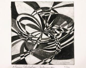 Aquatint Limited Edition on Rives BFK--Original Art Print--Copper Plate