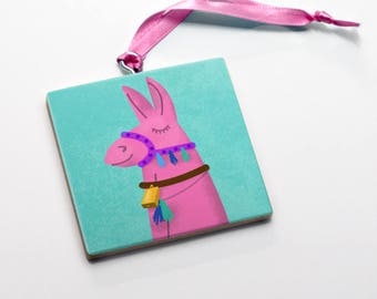 Coworker Gift- Llama Ornament- Cute Llama Gifts- Christmas Ornament- Llama Valentine Gifts for Girls- Gift- Llama Lovers Gift for Her