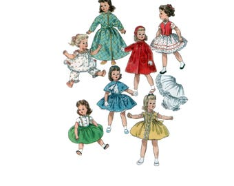 22 inch uncut Doll Clothes pattern Sweet Sue Doll Dress Binnie Doll pattern Doll Bonnet pattern vintage Simplicity 1779
