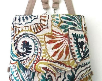 backpack bag converts to crossbody bag ,messenger backpack, convertible backpack purse, zipper bag, fit ipad,