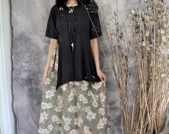 NEW l.l. // 'ys' floral skirt (aqua and sand)