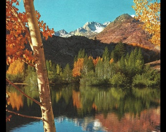 Intake Lake Sierra Nevada Mountains Bishop California 1961 Vintage Nature Art Photo Print  Home Decor Wall Art Collectible Photo Print