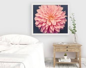 Flower Photography, Dahlia Decor, Bedroom Wall Decor, Gift for Mom, Living Room Wall Art, Nature Photography, Gift for Her, Wall Art Print