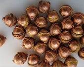 5 Ethiopian Copper spacer beads, Rustic beads, copper beads, Ethiopian beads, African beads, round beads