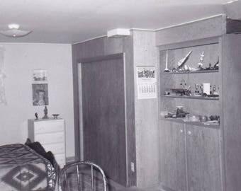 Boys Bedroom Circa 1960 - Found Photograph, Original Vintage Photo, Photograph, Old photo, Snapshot, Photography,