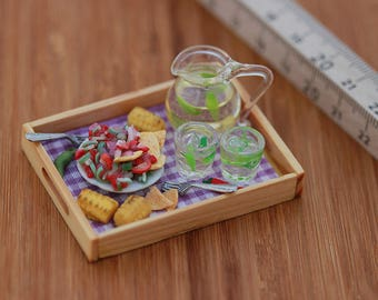 Fresh Corn Salsa - Breakfast in Bed Collection - 1:12 Scale Dollhouse Miniature Tray