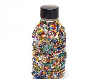 Dionysus // Beaded Bottle // Multicolor // Beadwork
