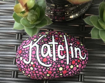 Personalized Hand Painted Stone, rock