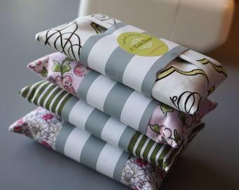 Set of 4 Rose Garden Tissue Holders