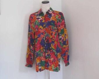 Vintage Silk Blouse by La Chine Inc. Galinda Want Vintage Ladies Blouse size 1X