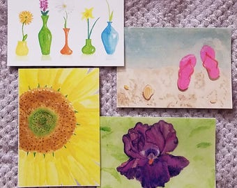 Set of Original Art Note Cards