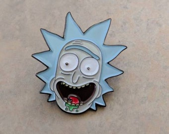 Rick from Rick and Morty soft enamel pin.