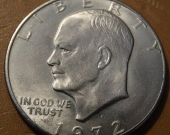 Vintage 1972 D Liberty US One Dollar Coin, Lot 26