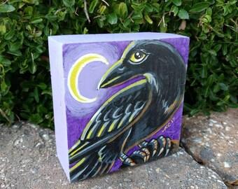 Halloween Decor/Crow/Raven/Art For Kids/Animal Art/Bird Art/Holiday Decor