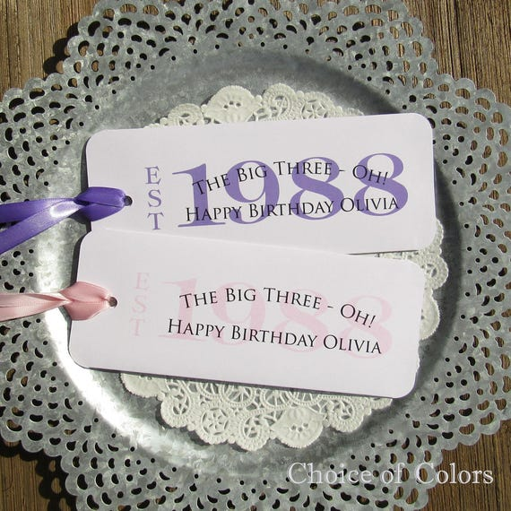 18th Birthday Birthday Party Favor Gumball Candy: 30th Birthday Favors