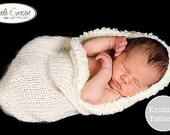 Knitting Pattern - Snowflake Cocoon Photography Prop