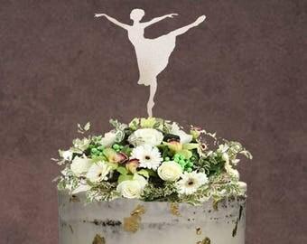 Cake Topper / Ballerina Cake Topper / Ballet Cake Topper / Birthday Cake Topper / Ballet Topper / Dance Cake Topper / Glitter Cake Topper