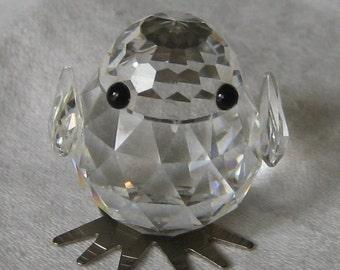 VINTAGE Tiny Crystal Chick Bird
