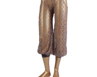 Pantaloons, YOUR SIZE, Hip Cut-Outs, Bloomers, Dance, Tribal, Bellydance, Pantaloons, Cabaret, Fusion Boutique