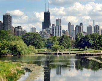Lincoln Park Skyline in Chicago - 8x8 Fine Art Photograph
