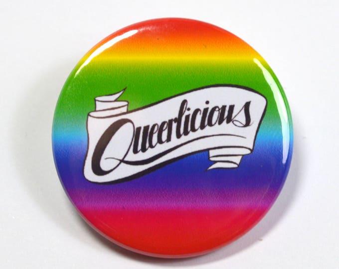 Queerlicious Queer LGBT Pride Badge Pinback Button
