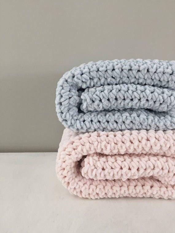 Velvet chenille baby blanket