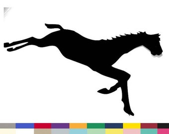 Horse Running Silhouette Embellishment Paper Cuttings DIY Home Wall Decor Crafts Invitations Scrapbooking Supply Die Cut 10 inch
