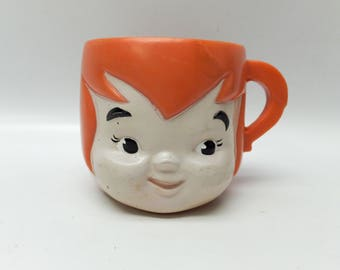 1972 Flintstones mug - Pebbles - vitamins promotion