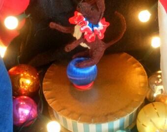 Circus Dogs - Vintage Circus Dog Decoration Christmas Decoration Display Doll