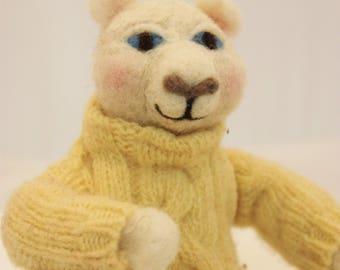 Bear, Needle Felted Bear  #2736