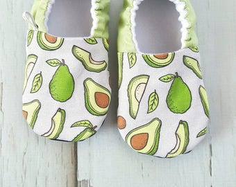 Avocados Baby Shoes / Baby Moccasins / Baby Moccs / Vegan Moccs / Vegan Moccasins / Soft Soled Shoes / Waldorf / Montessori / Tribal