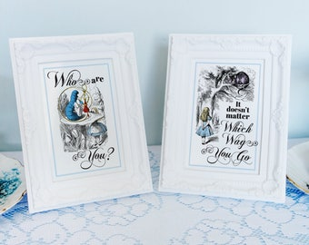 Alice in Wonderland quotes, images for 4x6 or 5x7 picture frames Alice in Wonderland party decorations DiY printable digital files full set