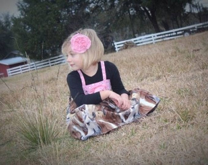 Girly Barnyard Birthday - Cowgirl Dress - Cowgirl Birthday - Baby Western Dress - Toddler Girl Dress  - Personalized Dress - 6 mo to 8 yrs