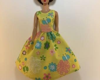 Handmade Barbie Doll Clothes 11.5 Fashion Dress Designs by P D Reneau (G905)