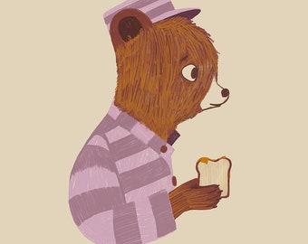 Marmalade Bear - Print