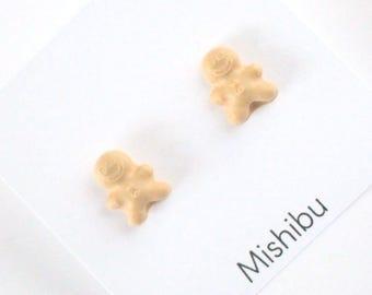 Tiniest Gingerbread Man Earrings
