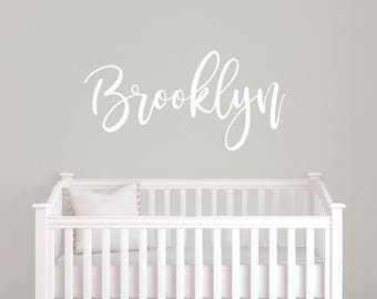 Personalized wall sticker, Girls room decor, Vinyl name decal, Nursery wall decal, Custom name sticker, Vinyl wall decal,  RB100
