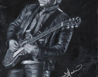 Jon Bon Jovi, Front Man of Bon Jovi, a print painted from a photo by the Artist, Roseann Madia