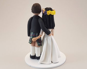 Scottish Handmade Wedding Cake Topper
