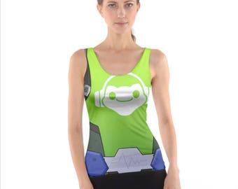OW Lucio Inspired Sleeveless Cosplay Tank Top WOMEN'S SIZE Pre Order
