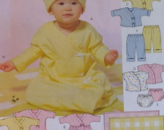 Infants Pattern Mccalls M4280 Infants Layette Pattern Stretch Knits Only Pattern