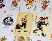 JOKER Playing Card Assortment | 15 Vintage Cards | DeStash Lot | Paper Ephemera | Character Cards | Clowns Jesters | J-106