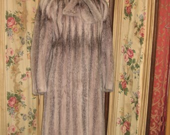 """1980's, 38"""" bust, pink tinted full length mink coat."""